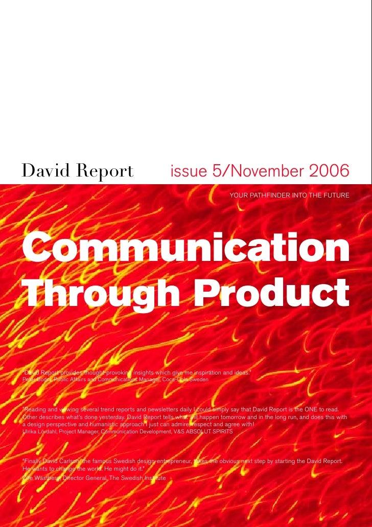 David Report                                             issue 5/November 2006                                            ...