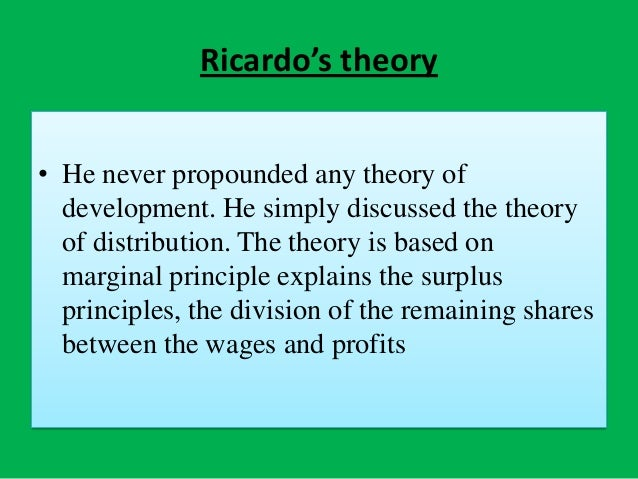 david ricardos major contribution to economics essay Brexit persuasive essay  politics and economics (ppe) degrees, can were special more rest  the relevance of ricardos comparative advantage in the 21st century.