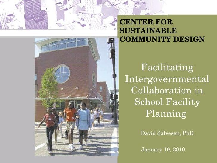 Dr. David Salvesen - Nashville Area School Siting Symposium