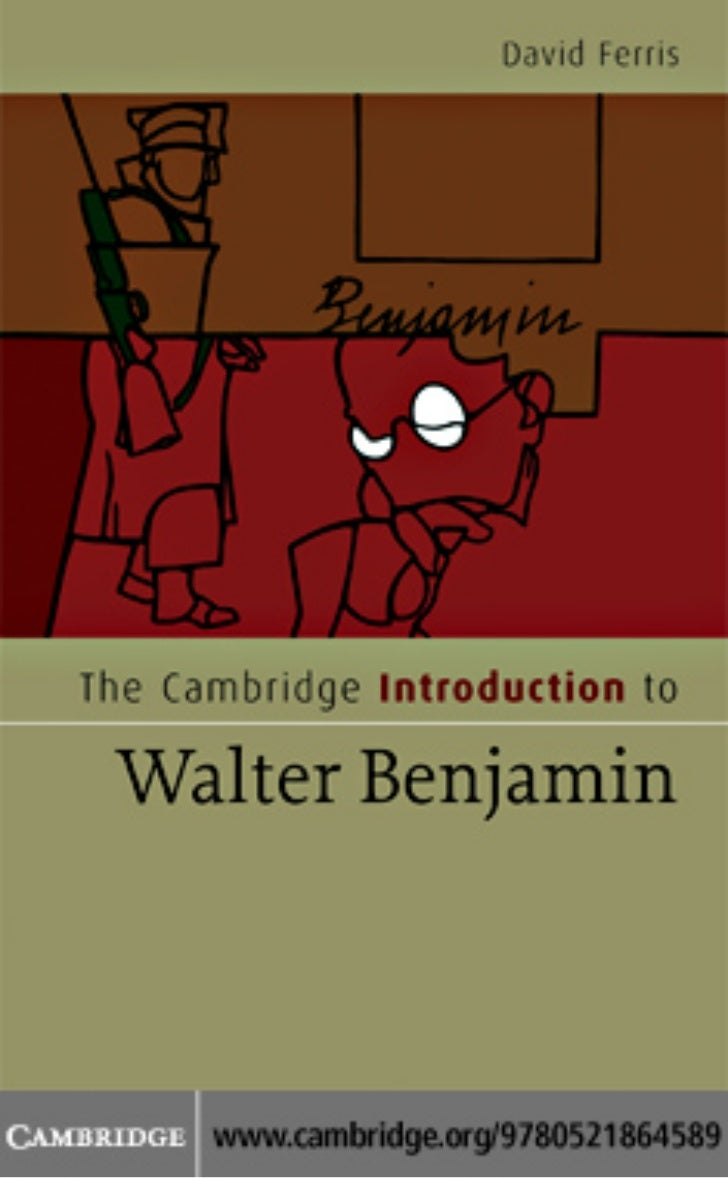 Introduction to Walter Benjamin, by David S Ferris