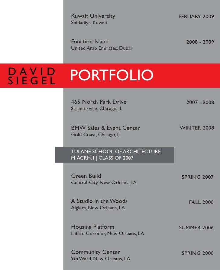 David Siegel\'s Portfolio