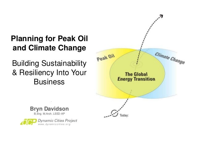 Planning for Peak Oil and Climate Change Bryn Davidson B.Eng. M.Arch. LEED-AP Building Sustainability & Resiliency Into Yo...