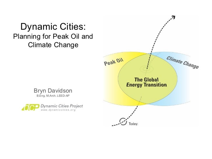 Dynamic Cities: Planning for Peak Oil and Climate Change Bryn Davidson B.Eng. M.Arch. LEED-AP
