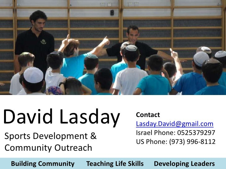 David Lasday Sports Based Youth  Development