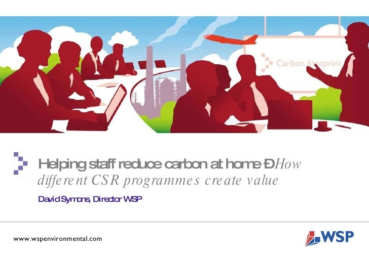 TITLE HERE  Other Details Here  www.wspenvironmental.com Helping staff reduce carbon at home –  How different CSR programm...