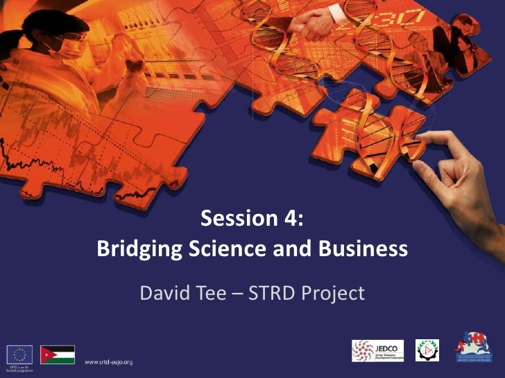 Session 4:Bridging Science and Business<br />David Tee – STRD Project<br />