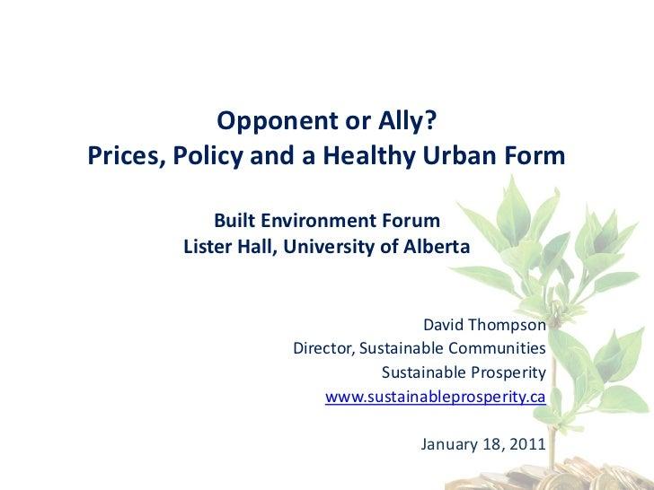David Thompson Presentation - Built Environment Forum January 2011