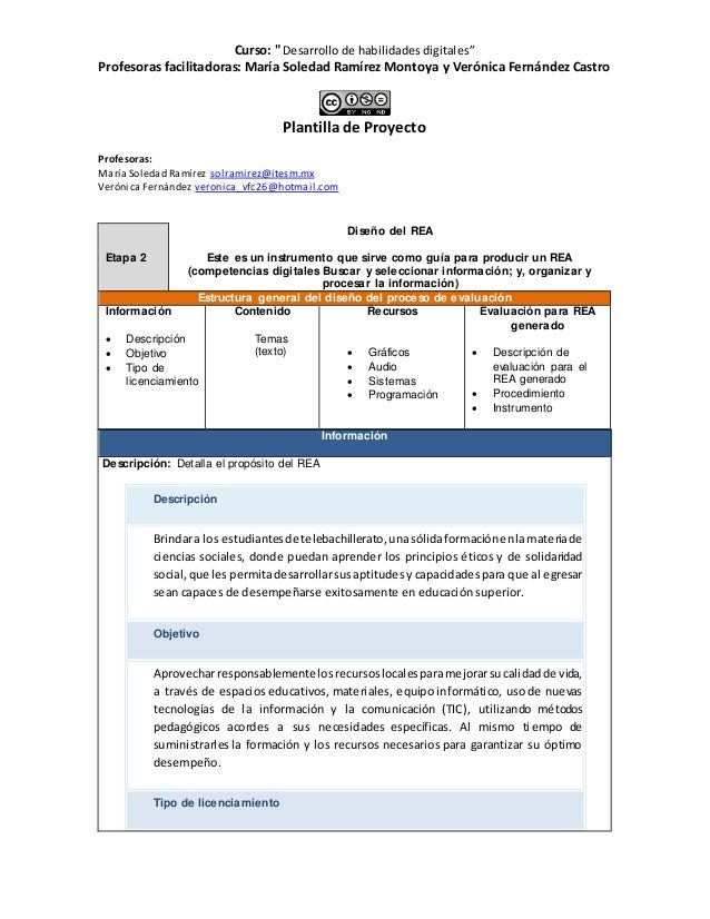 """Curso: """" Desarrollo de habilidades digitales"""" Profesoras facilitadoras: María Soledad Ramírez Montoya y Verónica Fernández..."""