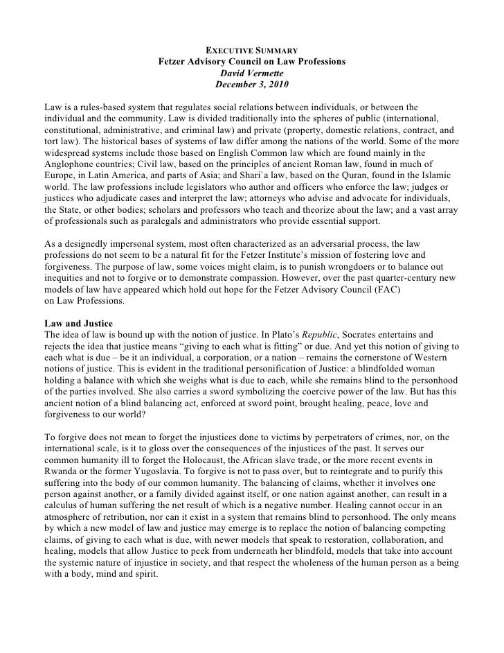 Essay on restorative justice model