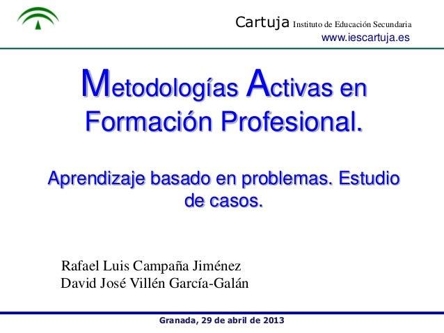 Metodologias Activas en Formación Profesional