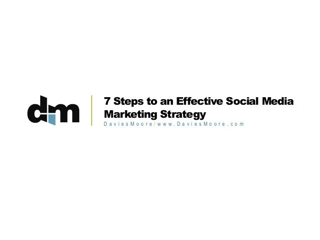 7 Steps to an Effective Social Media Marketing Strategy