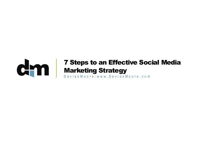 7 Steps to an Effective Social Media Marketing Strategy D a v i e s M o o r e / w w w. D a v i e s M o o r e . c o m