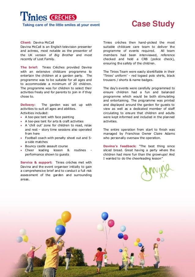 Davina mc call - childcare programme & entertainment