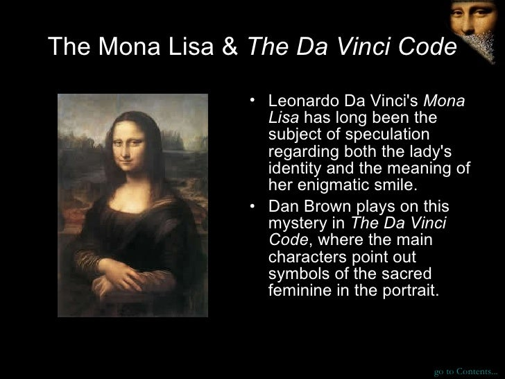 The da vinci code is just one big puzzle