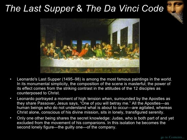 the last supper by leonardo da vinci essay In this paper i will be analyzing the last supper, by leonardo da vinci it is a  fresco, signifying that it is directly painted on a wall the last.