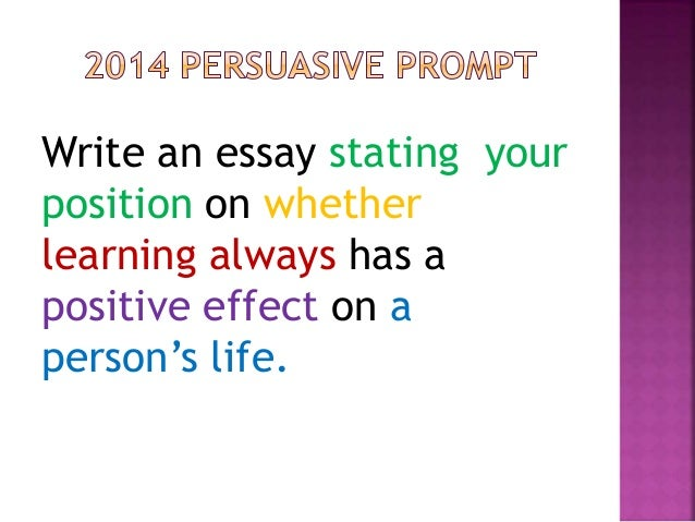 staar english 2 persuasive essay Staar english ii persuasive texas education agency student assessment division march 2016 score point 1 the essay represents a very limited writing performance.