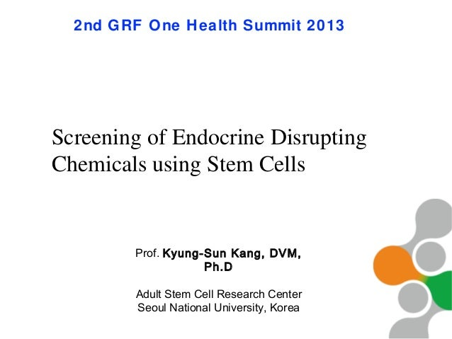 Screening of Endocrine Disrupting Chemicals using Stem Cells