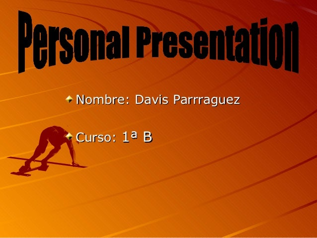 Davis presentacion de ingles