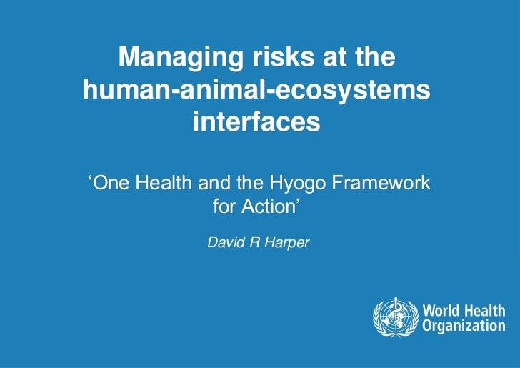 Managing risks at thehuman-animal-ecosystems       interfaces'One Health and the Hyogo Framework             for Action'  ...