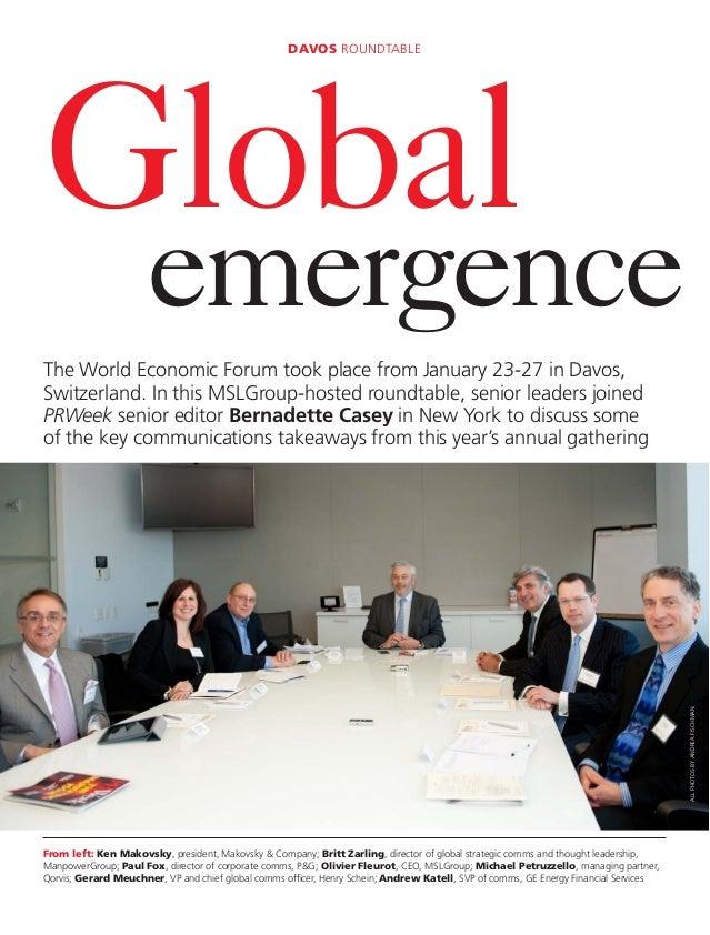 Global Emergence: A Davos RoundTable E-book