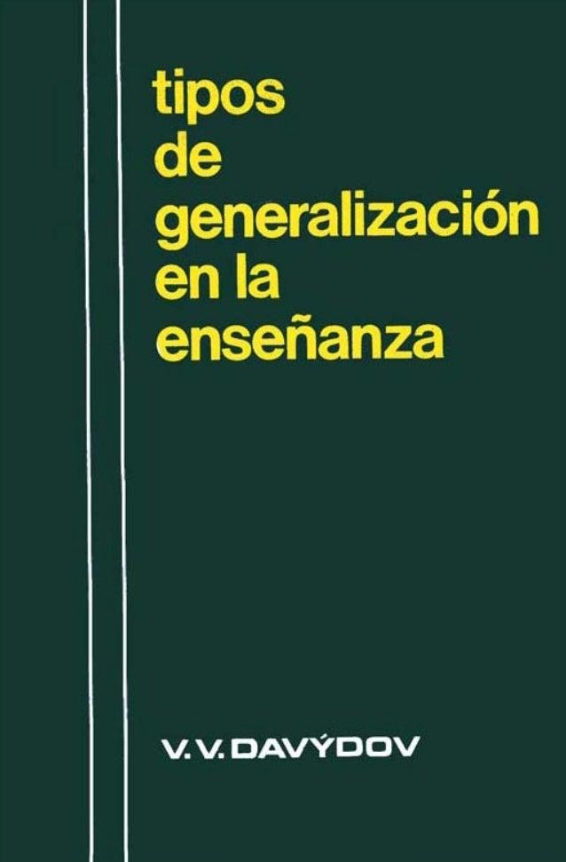 Tipos  de generalización  en la enseñanza