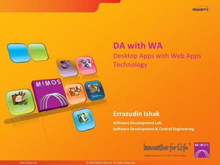 DA with Wa - Desktop Apps With Web Apps