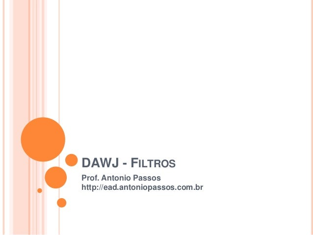 DAWJ - Filtros