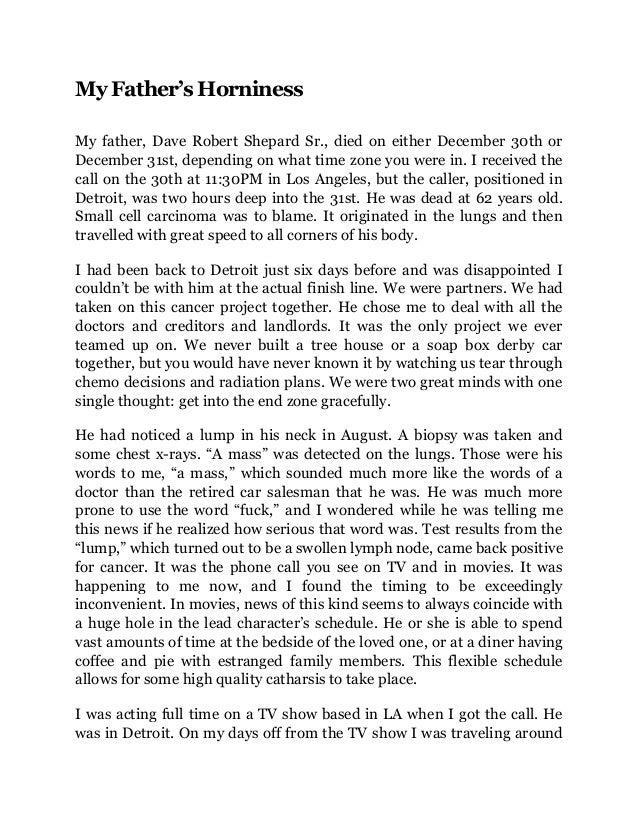 Essay of father's day