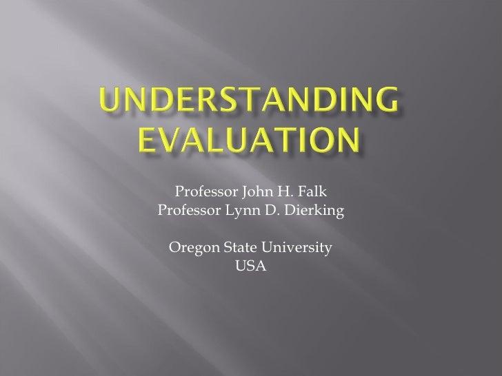 1. Para qué la evaluación sobre educación en museos
