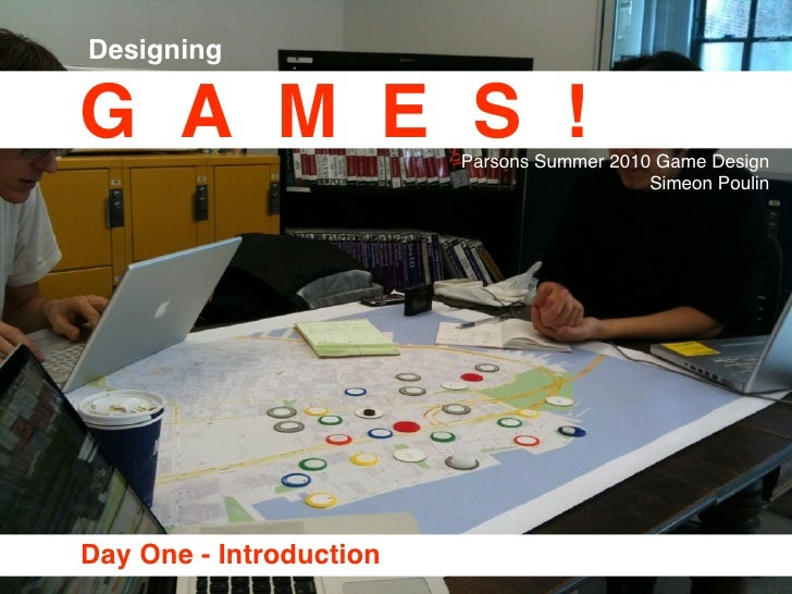 Game Design at Parsons Day1