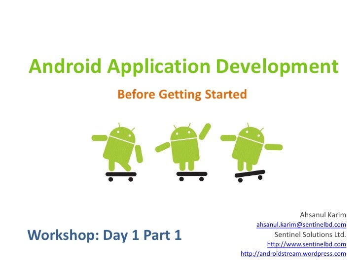 Android Workshop: Day 1 Part 1