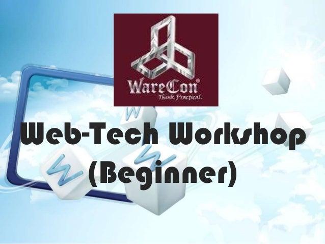 Web-Tech Workshop (Beginner)