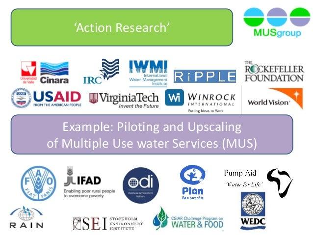 piloting and upscaling of mus - IWMI/WRC Research Uptake Workshop