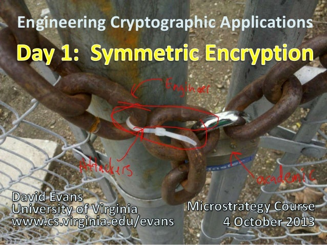 Engineering Cryptographic Applications