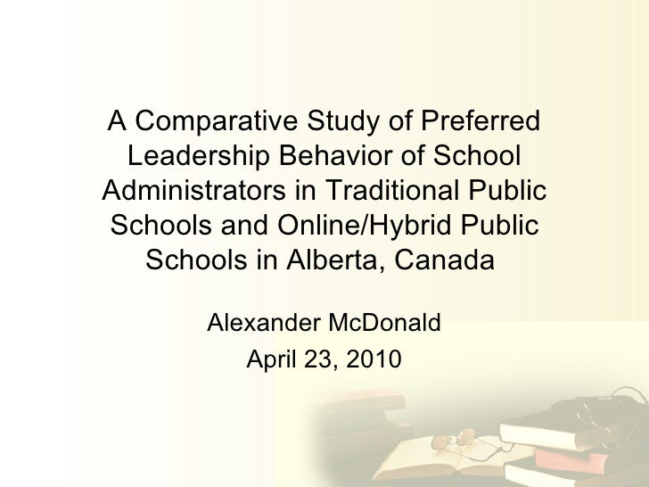 A Comparative Study of Preferred Leadership Behavior of School Administrators in Traditional Public Schools and Online/Hyb...