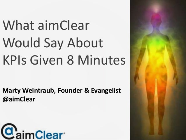 What aimClearWould Say AboutKPIs Given 8 MinutesMarty Weintraub, Founder & Evangelist@aimClear