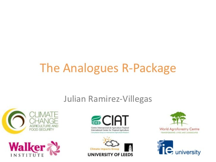The Analogues R-Package - Ramirez-Villegas
