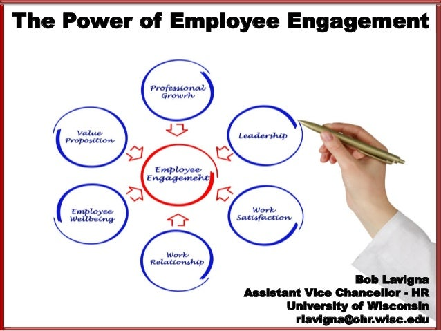 The Power of Employee Engagement Bob Lavigna Assistant Vice Chancellor - HR University of Wisconsin rlavigna@ohr.wisc.edu