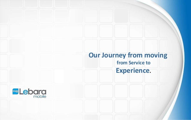 Our Journey from moving from Service to Experience.