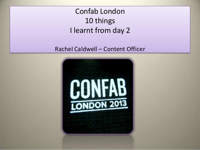 What I learnt from Confab London - day 2