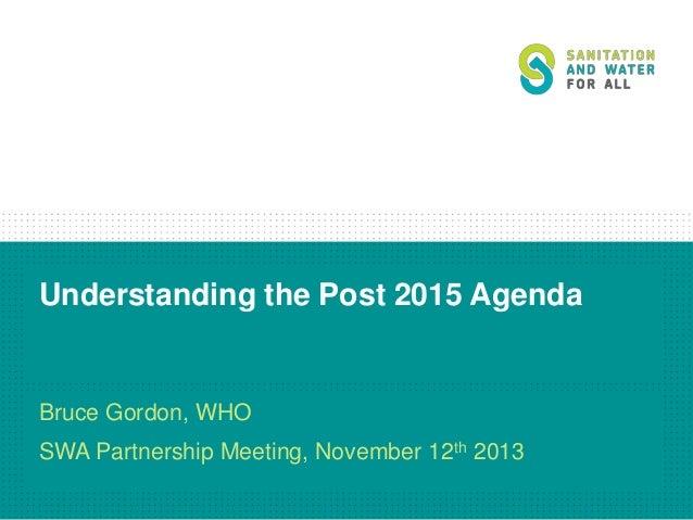 Day 2.4 - Understanding the post 2015 agenda