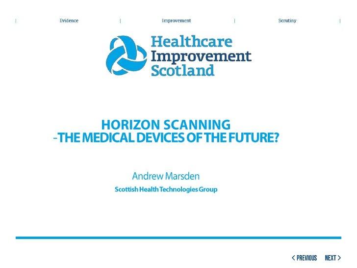 Parallel Session 3.1.4 Emerging Technologies - Horizon Scanning