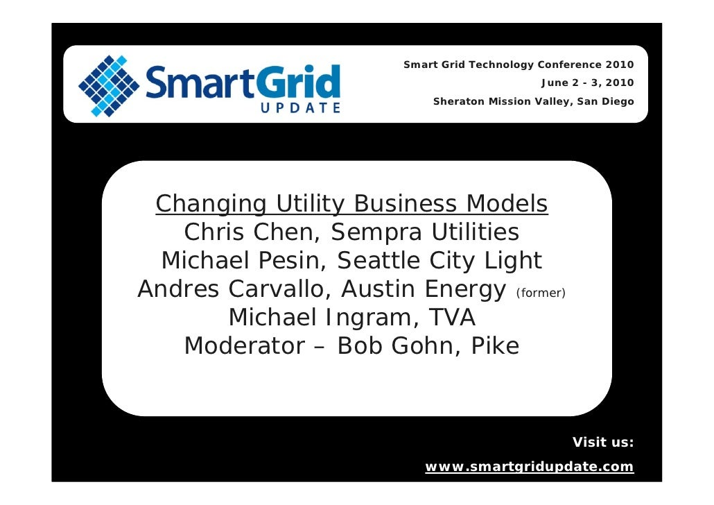 Smart Grid Technology Conference 2010                                               June 2 - 3, 2010                      ...