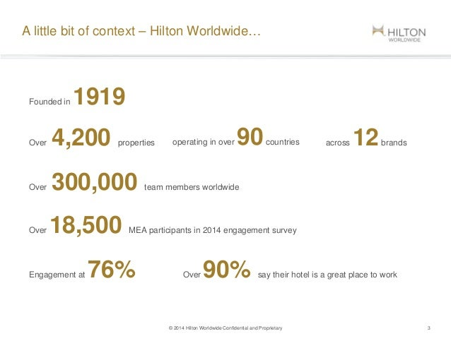 hilton worldwide essay Hilton hotels: brand differentiation through customer relationship management hilton hotel was founded by conrad hilton, and established in 1919 it has been operated in 78 countries, began with the mobley hotel in cisco, texas.