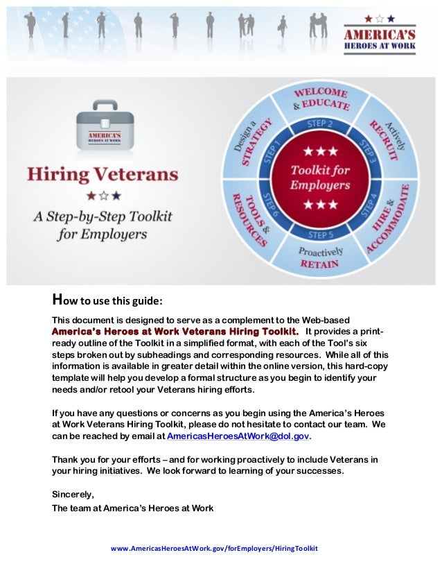 www.AmericasHeroesAtWork.gov/forEmployers/HiringToolkit   Howtousethisguide: This document is designed to serve...