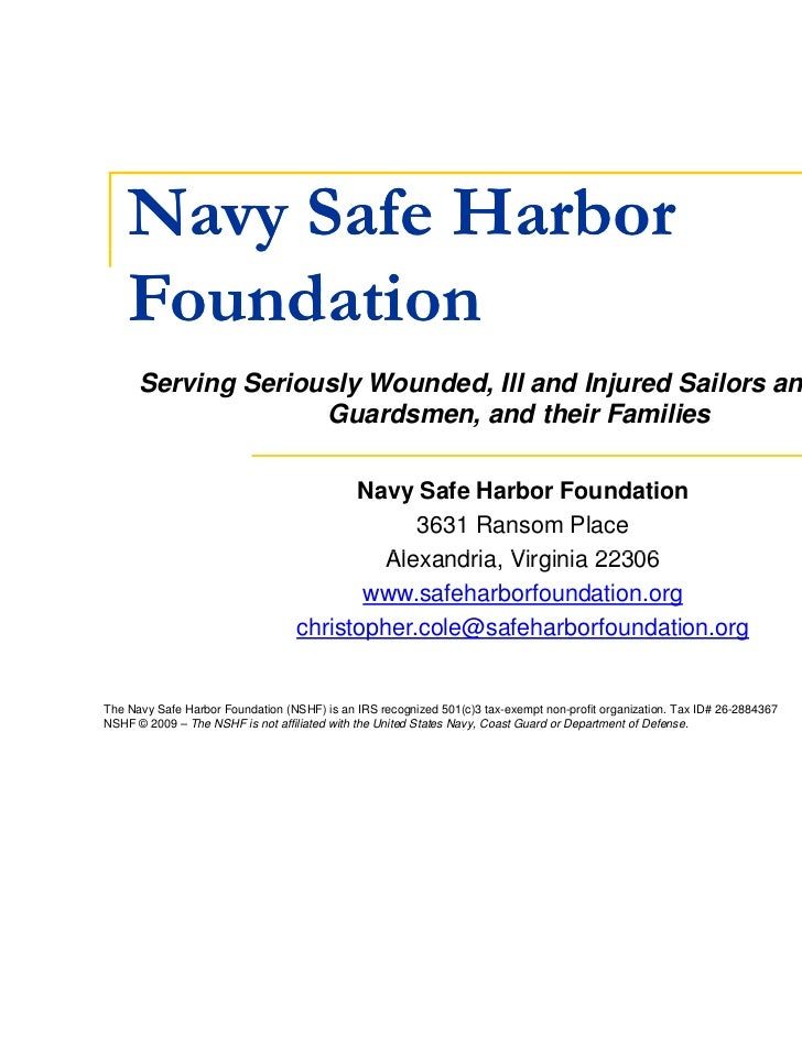 Navy Safe Harbor       y    Foundation      Serving Seriously Wounded, Ill and Injured Sailors and Coast                  ...