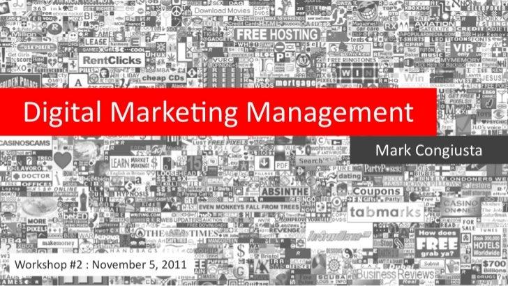 Digital Marketing Management: Brand/Agency Partnership