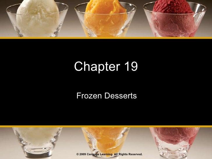 Day 2 frozen desserts