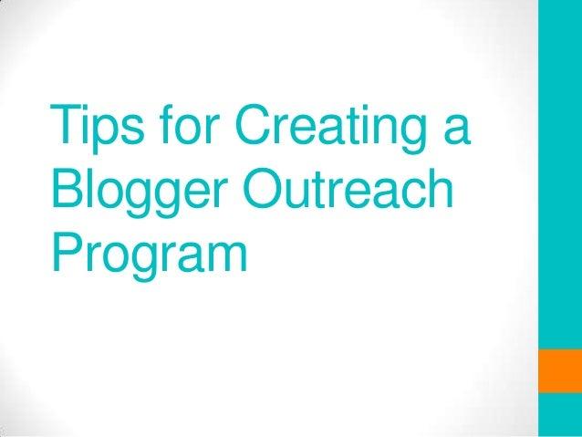 Creating a blogger outreach programme