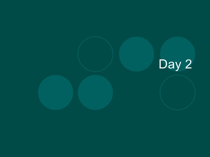 Day 2 - Parts of Speech